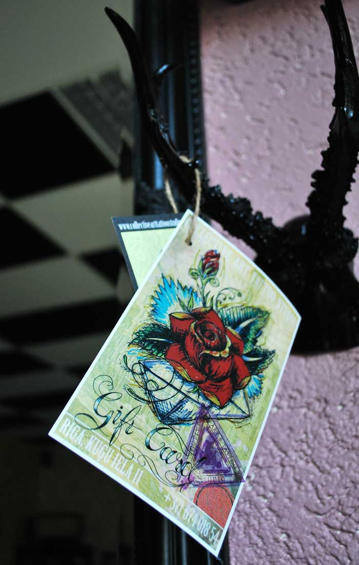 Gift card tattoo shop in riga collective art tattoo studio for Gifts for tattoo artist